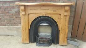 Solid Wood Fireplace