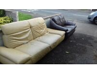 two free leather sofas