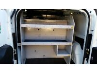 small van racking, shelving, drawers metal made