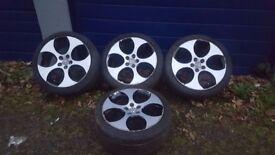 "18"" VW Golf MK5 GTI Monza Wheels - Silver and Black alloys"