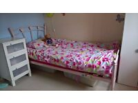 Single metal bed for girls