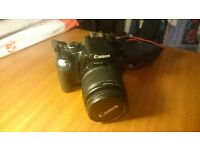 Canon EOS 450D SLR Camera With EFS Lens 18-55mm, spare battery, tripod, bag