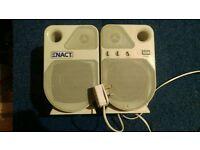 Mains powered speakers