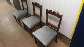 3 vintage dining chairs