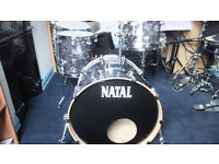 NATAL ASH SERIES PRO 5 PIECE DRUM SHELL PACK + CASES