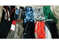 Bundle of 10 pairs of boys/men's varied shorts. Waist 30""