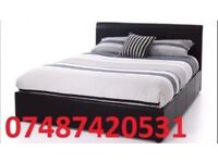 MIAMI DOUBLE LEATHER BED FRAME + FREE 9 INCH MATTRESS £99