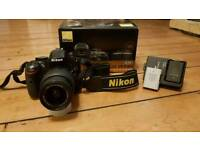 Nikon d5200 black with 18-55mm f3.5-5.6 G VR2 lens.