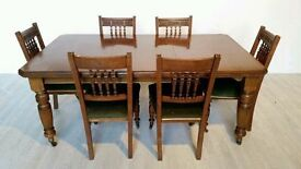 Victorian Joseph Fitter Windout Extending Dining Suite