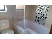 Shower screen (GLASS) as new with all fixings etc.