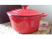 Brand New L'epicure cast iron Casserole with lid