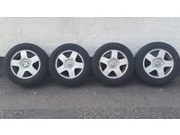 "VW alloy wheels 15"" 5x100"