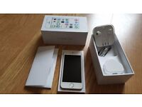 Apple Iphone 5s 16GB on o2 - White/Silver - Boxed & Full Working Order