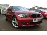 BMW 1 SERIES 120D SE LOVELY COLOUR COMBINATION REAL EYEFUL GREAT VALUE (red) 2008
