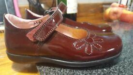 Size 10 / 28 Petasil Girls Burgundy School shoes