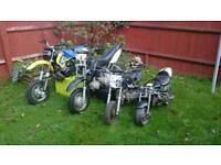 Motocross bikes! Husky boy 50 and 2 mini bikes