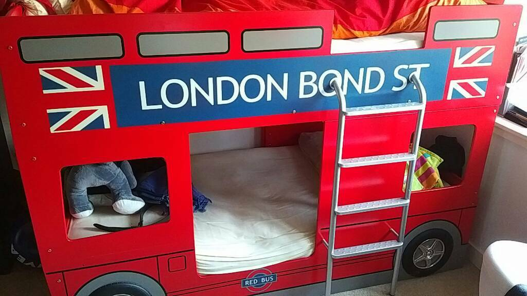 London Bus Kids Bunk Bed By Julian Bowen In Langside