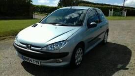 2005 Peugeot 206 1.4 petrol 79.000 miles 12 months mot free warranty included