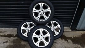 "*!*BARGAIN*!* Set Of 4 15"" Alloy Wheels *4x100 PCD Fitment* *195/65/15 Tyres* *RENAULT MEGANE CLIO*"