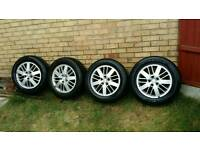4 Genuine Alloy Wheels and Tyres for Ford Galaxy, S Max, C Max, Focus