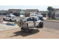 Parker 15ft fishing boat with cuddy + trailer + Honda BF30 outboard in excellent condition
