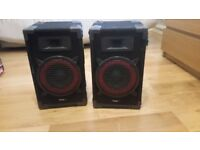 "1 Pair LTC 8""/20cm 2 Way DJ PA Speakers 360 Watts"