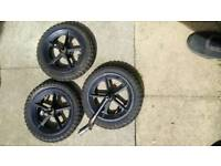 Phill&teeds double pushchair wheels set in used good condition! can deliver or post!