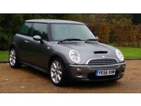 MINI COOPER S 56PLATE 2006 6SPEED 99000 MILES FULL SERVICE HISTORY METALIC GREY HALF LEATHER AIRCON