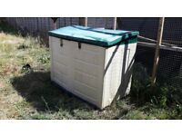 plastic garden shed outside bin lockup