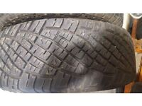 2x general grabber tyres, only done 200 miles , still brand new