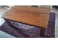 Indian wood coffee table.