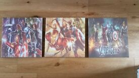 Set of 3 Avengers canvases