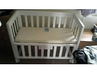 John Lewis Troll bedside crib co sleeper cot