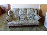 Lovely 3 piece suite - sofa and 2 armchairs - excellent condition
