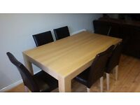 Dining Table & Chairs (6) For Sale- Bargain @ £40.