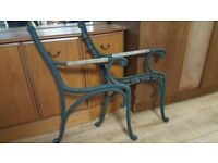Pair Of Wrought Iron Bench Ends ( 2 Sets Available ) £30 Each