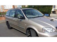 2005 KIA SEDONA Great 7 seat MPV ABS MOT and tax drives perfectly