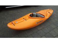 Liquid Logic Stomper 90 White Water Kayak in orange