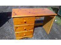 Nice little pine dressing table/desk