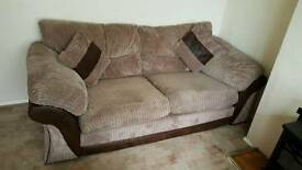 2 seater large sofa and 2 chairs