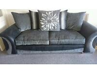 Scs sofa, 3 seater and swivel chair