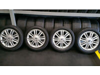Renault Genuine 16 alloy wheels + 4 x tyres 185 55 16