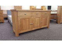 Charlton's Furniture Bretagne Solid Oak 3 DOOR 3 DRAWER SIDEBOARD FREE DELIVERY DERBY NOTTINGHAM