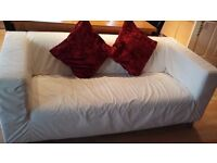 Ikea 3 seater sofa with white cover. Can buy different colours from ikea