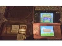 3ds coral pink and 13 games