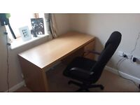 Large office desk and chair- £60ono