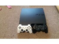 PS3 with 2 controllers, 2 controller charges plus all game shown