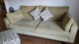 X2 Two Seater Sofas 190cm long x 97cm Wide...Foot stool 97cm long x 57cm wide