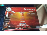 Supermag Eiffel Tower and Assorted Geomag Magnetic Construction Kit and Pieces