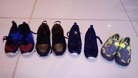 Boys zara, Nike, R. Island trainer bundle